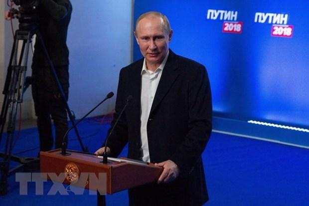 Maximo dirigente politico de Vietnam saluda victoria de Putin hinh anh 1