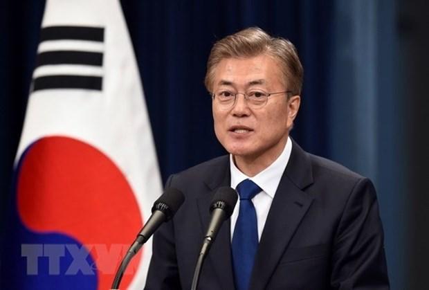 Presidente de Sudcorea inicia visita estatal a Vietnam hinh anh 1