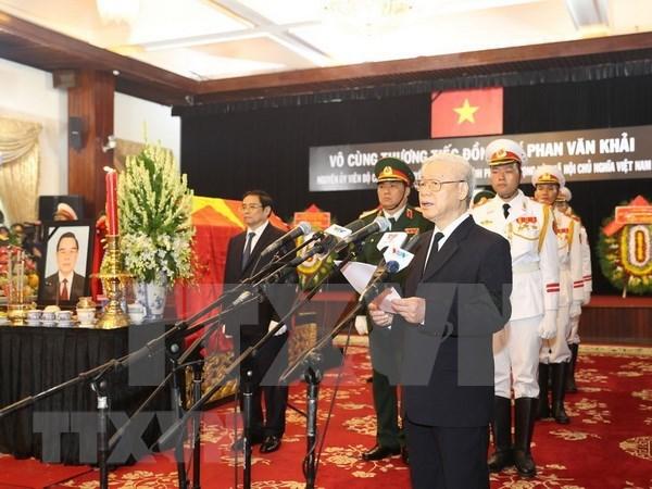 Honras funebres en memoria del expremier ministro Phan Van Khai hinh anh 1