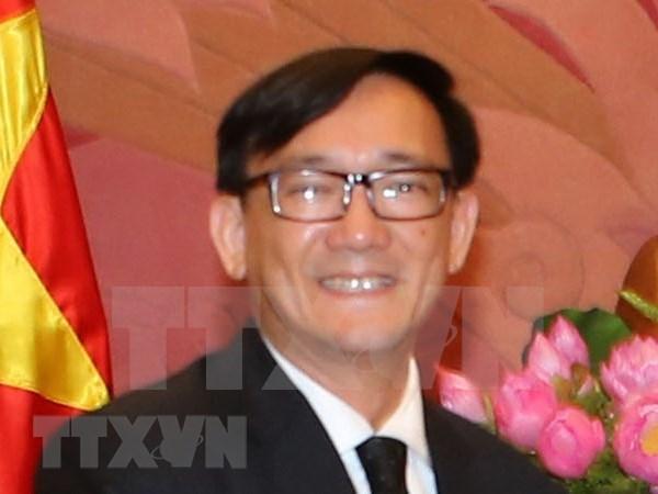 Embajador tailandes honrado con sello conmemorativo por sus aportes a nexos con Vietnam hinh anh 1