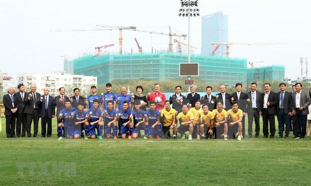 Presidente de Sudcorea sostiene encuentro con equipo sub-23 de Vietnam hinh anh 1