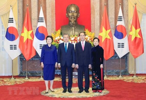 Presidente de Sudcorea concluye visita estatal a Vietnam hinh anh 1