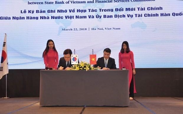 Vietnam y Sudcorea refuerzan cooperacion en sector financiero hinh anh 1