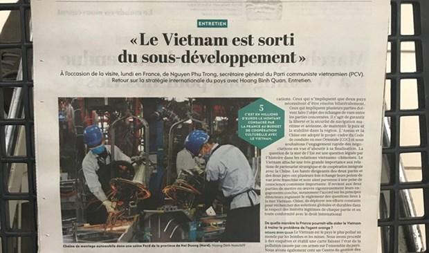Prensa francesa aprecia logros de desarrollo economico de Vietnam hinh anh 1