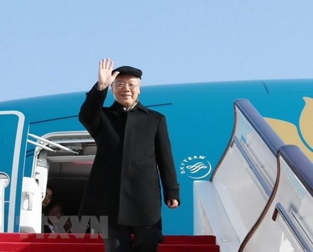 Secretario general del PCV parte de Hanoi para visita oficial a Francia hinh anh 1
