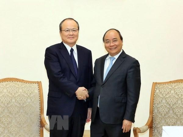 Primer ministro de Vietnam recibe a ejecutivo del Grupo Mitsubishi hinh anh 1