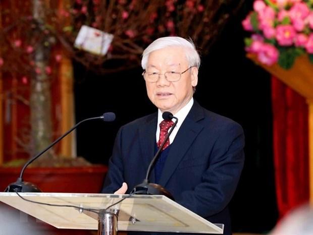 Maximo dirigente partidista de Vietnam resalta perspectivas para cooperacion con Francia hinh anh 1