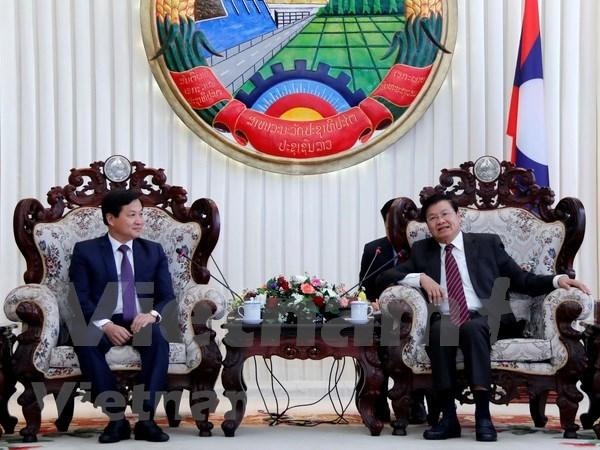 Premier de Laos aprecia cooperacion en materia de inspeccion con Vietnam hinh anh 1
