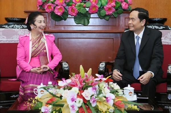 Organizaciones de masas de Vietnam y Laos consolidan cooperacion mutua hinh anh 1