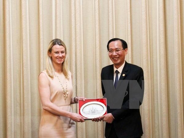 Ciudad Ho Chi Minh fortalece cooperacion legislativa con senadores de Estados Unidos hinh anh 1