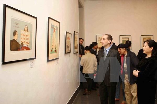 Presentan en Hanoi obras maestras del ilustrador checo Jiri Silva hinh anh 1