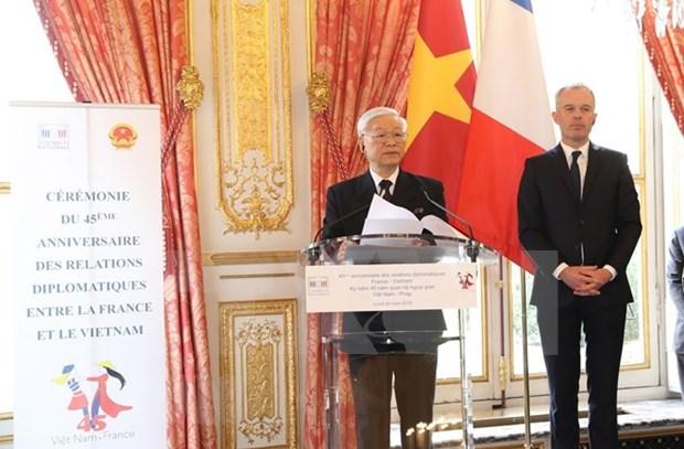 Francia y Vietnam celebran 45 anos de relaciones diplomaticas en Paris hinh anh 1