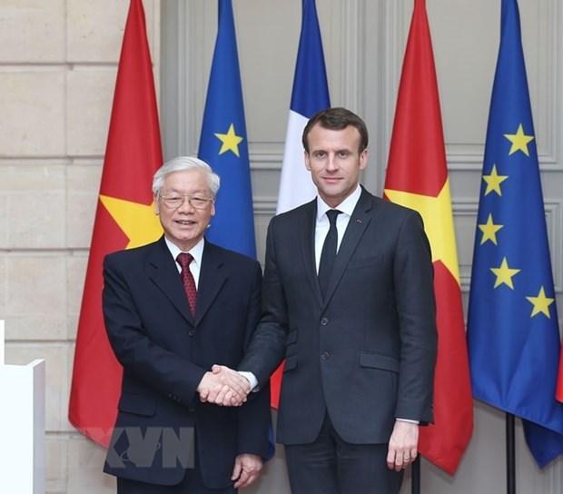Vietnam y Francia comprometidos con fortalecimiento de cooperacion bilateral hinh anh 1