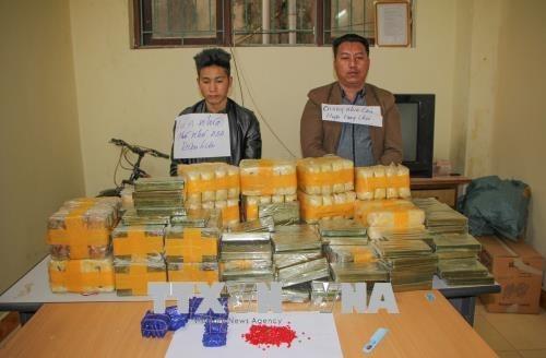 Policia vietnamita confisca 135 ladrillos de heroina y 500 mil pastillas de drogas sinteticas hinh anh 1