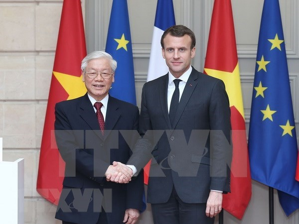 Prensa francesa destaca visita oficial a Francia de lider partidista de Vietnam hinh anh 1