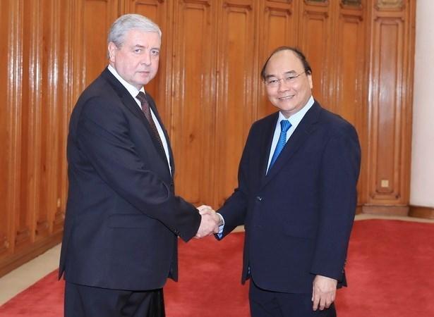 Premier de Vietnam aboga por fortalecimiento de nexos comerciales con Belarus hinh anh 1