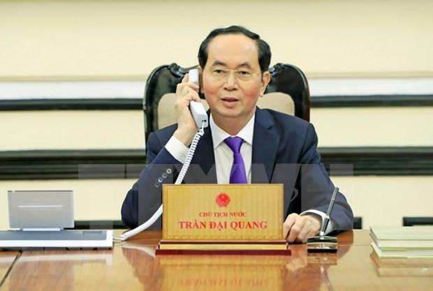 Presidente vietnamita felicita a su par ruso y extiende pesame por incendio en Kemorovo hinh anh 1