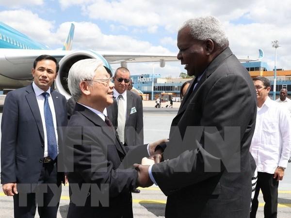 Maximo dirigente partidista de Vietnam inicia visita a Cuba hinh anh 1