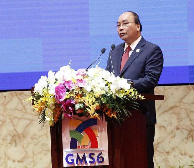 Premier vietnamita copreside plenario de Cumbre de Negocios de GMS hinh anh 1