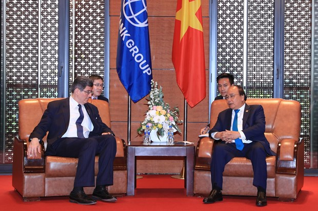 Premier vietnamita recibe a director general de BM hinh anh 1