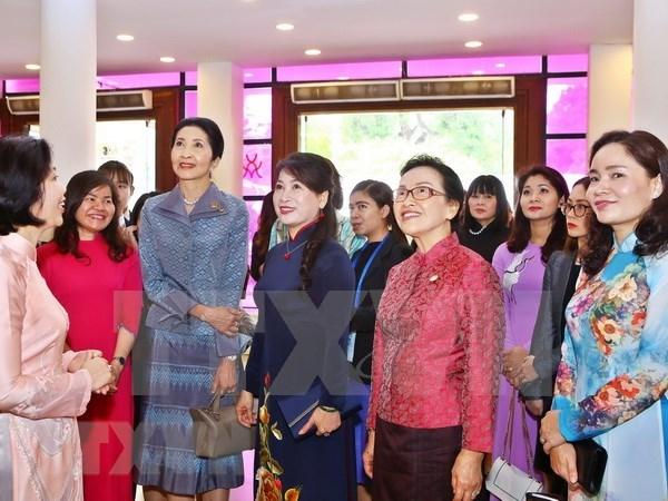 Conyuges de lideres de GMS visitan museo de mujeres vietnamitas hinh anh 1