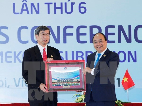 Sexta Cumbre de la Subregion del Gran Mekong adopta documentos importantes hinh anh 1