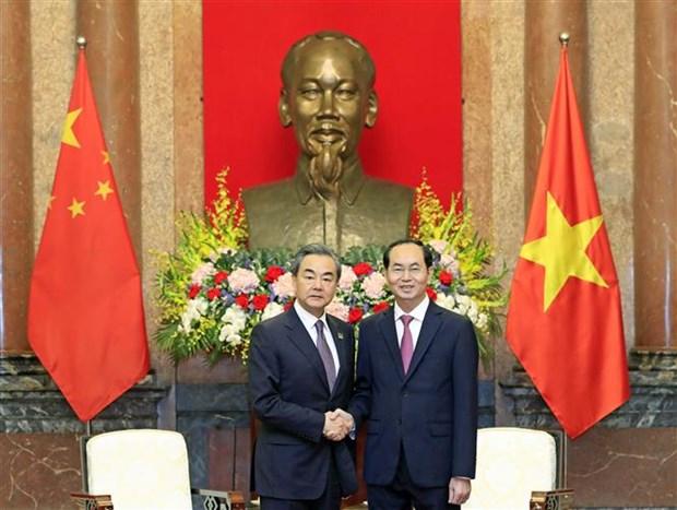 Presidente Dai Quang aboga por fortalecimiento de confianza politica entre Vietnam y China hinh anh 1