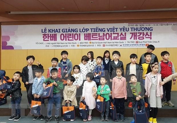 Abren clases de idioma vietnamita para ninos de familias Vietnam-Sudcorea hinh anh 1