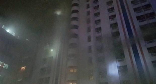 Incendio en edificio en Bangkok deja tres muertos y 61 heridos hinh anh 1