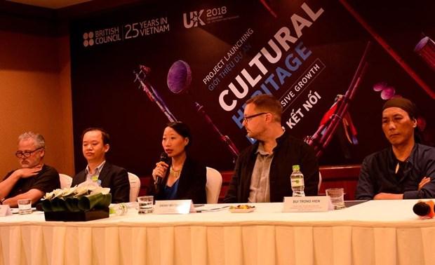 Consejo Britanico patrocina proyecto de preservacion y promocion de patrimonios de Vietnam hinh anh 1