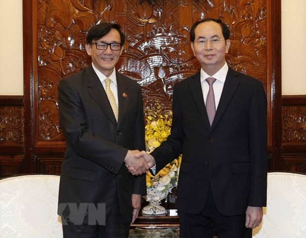 Presidente de Vietnam promete alfombra roja para inversores de Tailandia hinh anh 1