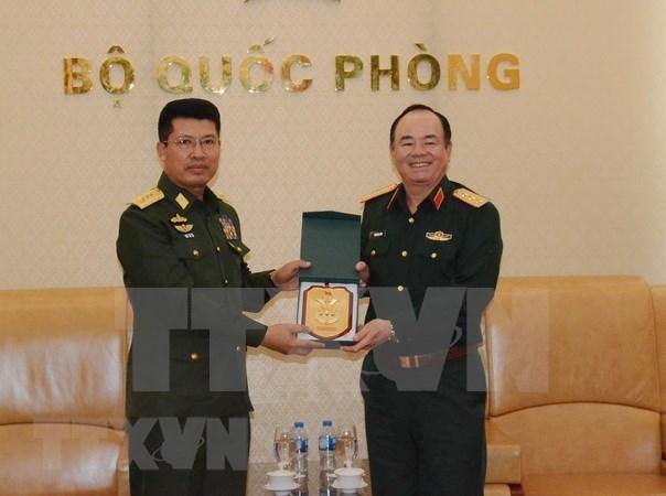 Fuerzas armadas vietnamitas y myanmenas fortalecen cooperacion hinh anh 1