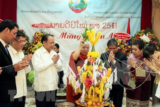 Autoridades de Ciudad Ho Chi Minh felicitan a Laos por fiesta de Bunpimay hinh anh 1