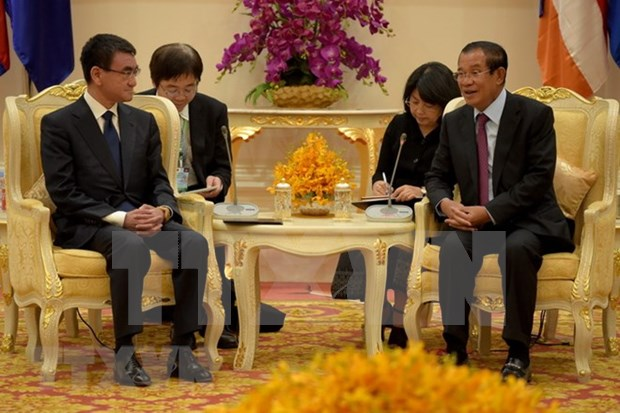 Japon y Camboya firman acuerdos de asistencia por mas 90 millones de dolares hinh anh 1