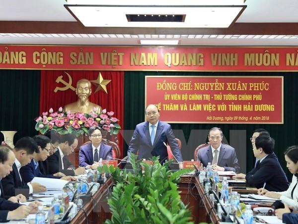Premier insta a provincia nortena de Hai Duong a convertirse en centro industrial hinh anh 1