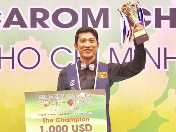 Billarista vietnamita se corono en el Campeonato asiatico de Billar carambola hinh anh 1