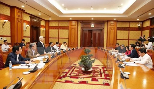 Destacan esfuerzos por impulsar la construccion partidista en Vietnam hinh anh 1