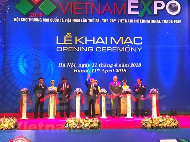 Inauguran Exposicion Internacional de Comercio Vietnam Expo 2018 hinh anh 1