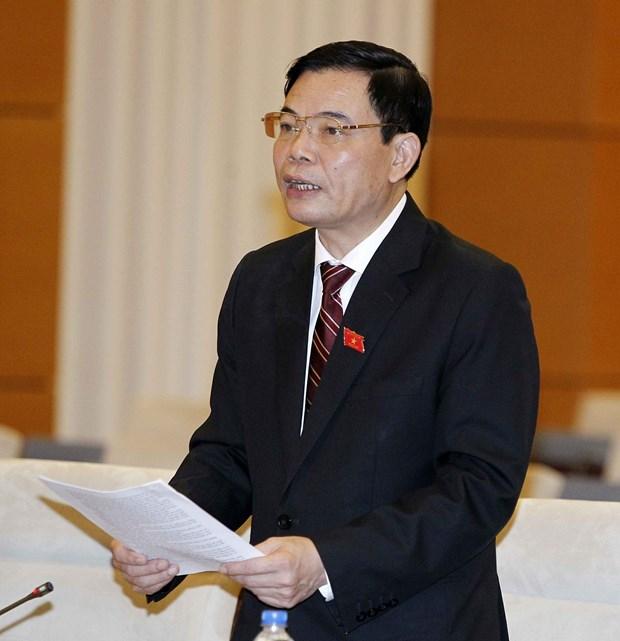 Diputados vietnamitas escrutinan borrador de Ley de Cultivo hinh anh 1