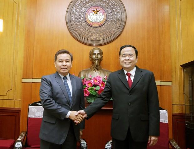 Frente de Patria de Vietnam y Frente laosiano de Construccion Nacional fortalecen cooperacion hinh anh 1