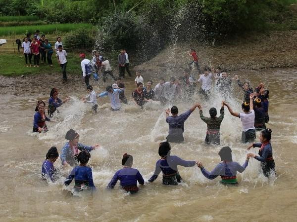 Reconocen como Patrimonio Cultural Intangible nacional a fiesta de agua de etnia Lao hinh anh 1