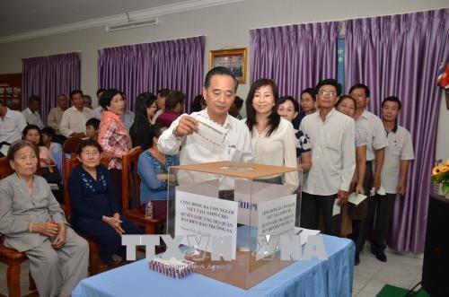 Vietnamitas en Camboya apoyan a los soldados y pobladores de Truong Sa hinh anh 1