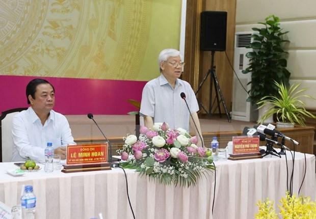 Dirigente partidista vietnamita pide a Dong Thap impulsar reforma de aparato administrativo hinh anh 1