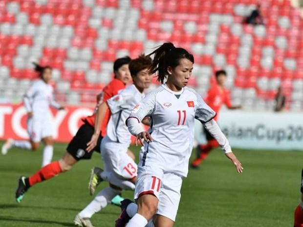 Seleccion femenina de futbol de Vietnam parte de Jordania tras derrota ante Sudcorea hinh anh 1