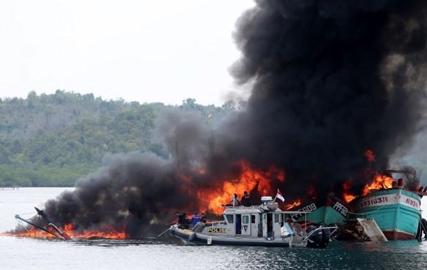 Indonesia detiene 26 barcos por pesca ilegal en lo que va de ano hinh anh 1