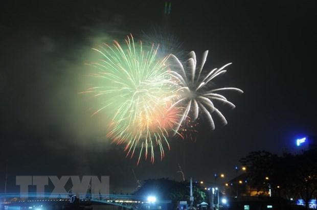 Fuegos artificiales iluminaran Ciudad Ho Chi Minh en Dias de Reunificacion y Trabajo hinh anh 1