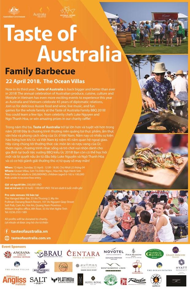 Se efectuara Taste of Australia BBQ en ciudad vietnamita de Da Nang hinh anh 1