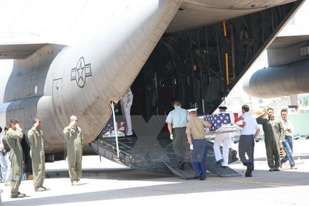 Efectuan en Da Nang repatriacion de cuerpos de estadounidenses caidos durante guerra en Vietnam hinh anh 1