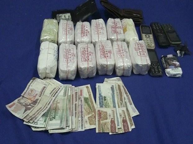 Decomisan 24 mil capsulas de drogas sinteticas en transporte de Laos a Vietnam hinh anh 1