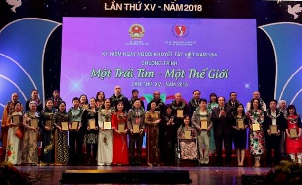 Benefactores donan un millon de dolares para discapacitados vietnamitas hinh anh 1